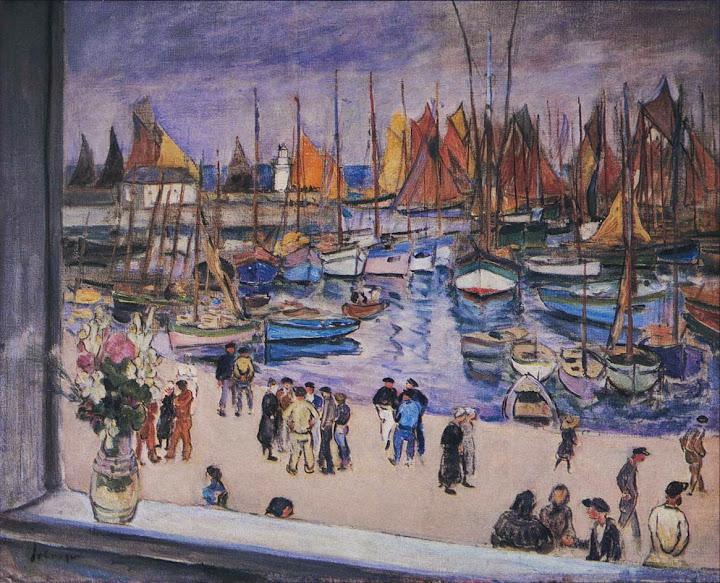 Henri Lebasque - The port at Saint-Tropez