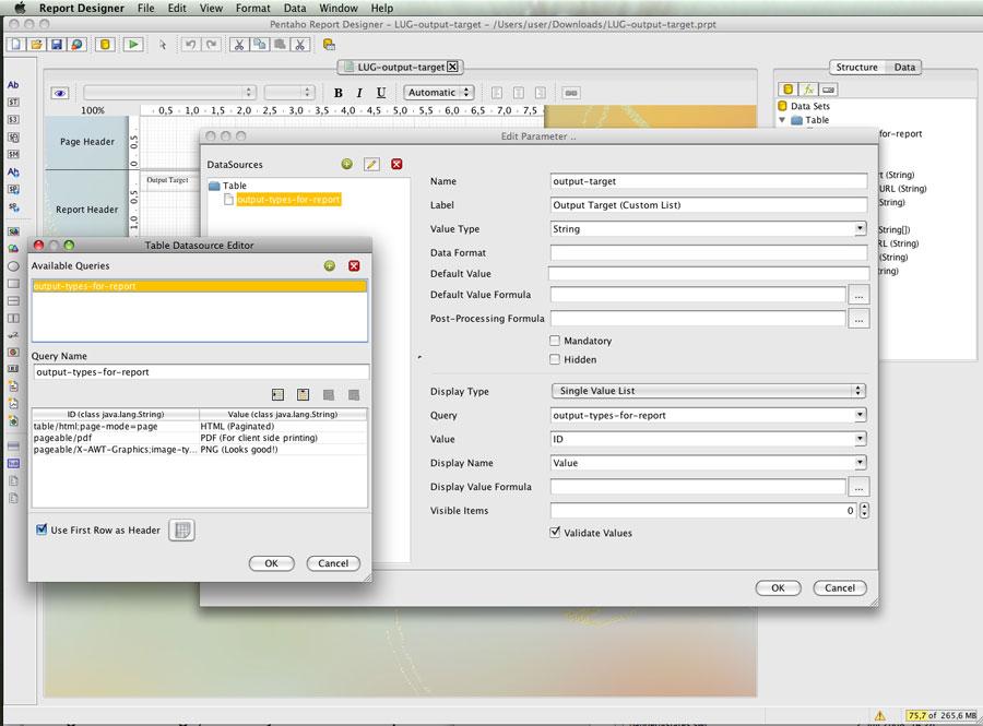 For java pentaho pdf developers 3.5 reporting