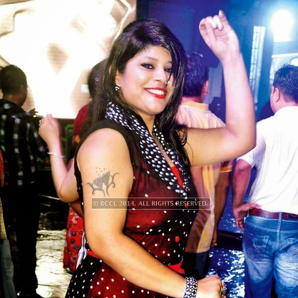 Kanchan Gupta during a rain dance party in Kanpur.