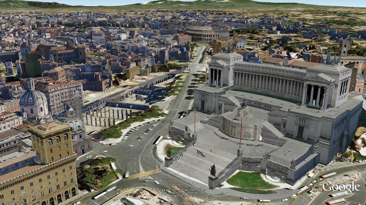 google lat long explore the ancient and modern with rome in 3d