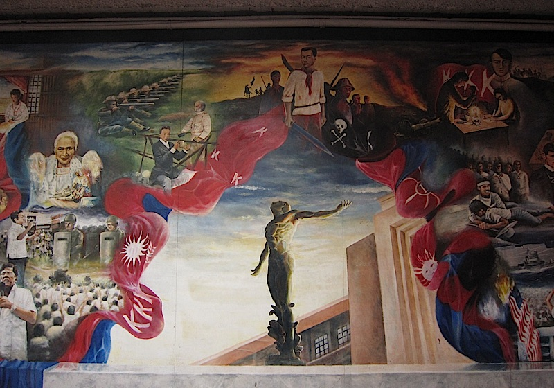 mural in the Palma Hall of the University of the Philippines - Diliman