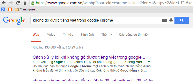 Hướng dẫn khắc phục lỗi không gõ được tiếng việt trên Google Chrome