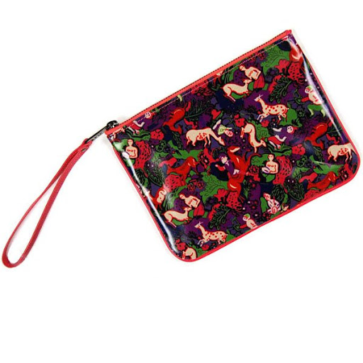 Marc by Marc Jacobs PVC Jungle Cosmetic Pouch Clutch Red New, Red with jungle scene pattern. 100% PVC. 100% Authentic. Size. 8.25x6.125x1 inches