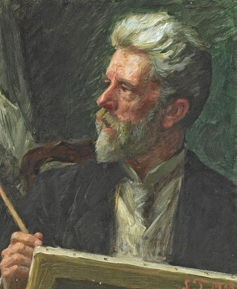 Laurits Tuxen - Selfportrait