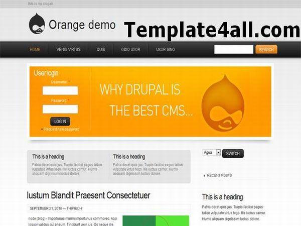 Free Drupal Orange Business Template