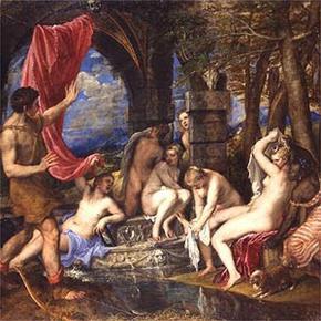 Diana y Actaeon de Tiziano