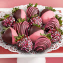 Get delicious chocolate covered strawberries delivered for under $60.00 (U.S.)