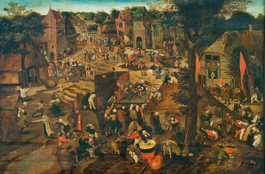 Pieter Brueghel the Younger - A Village Fair (Village festival in Honour of Saint Hubert and Saint Anthony) - Google Art Project