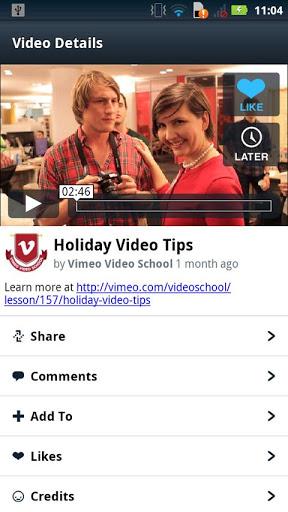 vimeo android app