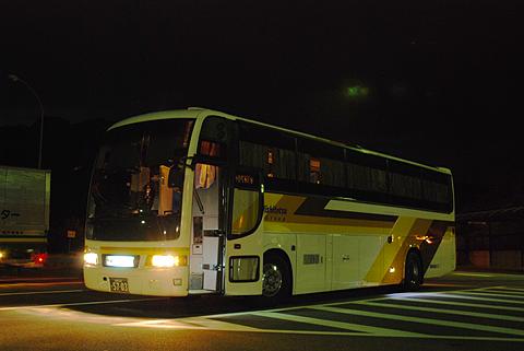 西鉄高速バス「道後エクスプレスふくおか号」 3134 来島海峡SAにて