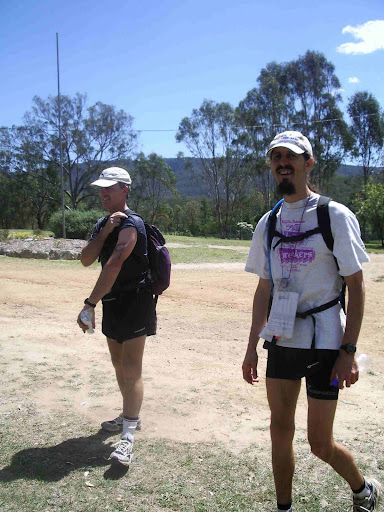 Lawrence Mead and Grant Campbell in the inaugural Great North Walk 100s ultramarathon