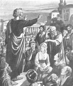 Peter Preaching at Pentecost