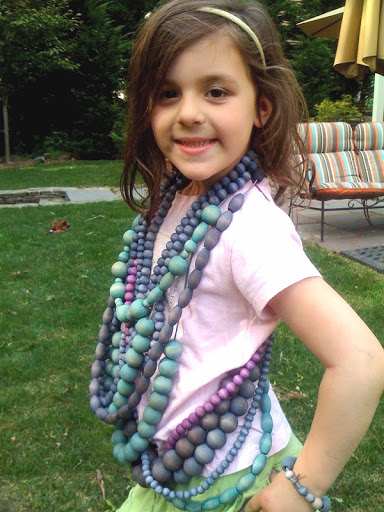 Ava shows off some strands!