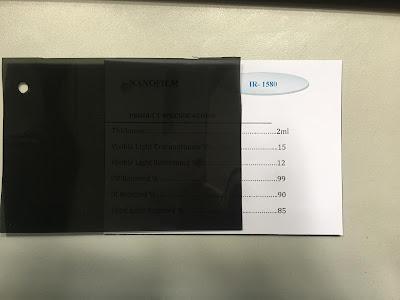 Mẫu phim cách nhiệt IR 1580 Nano Film