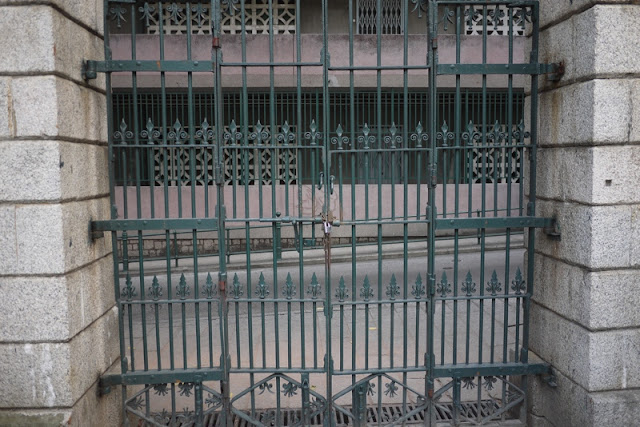locked gate at graveyard in Macau