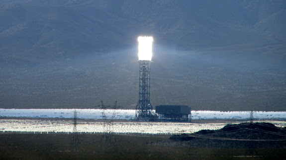 Ivanpah solar facility just across the border from Primm, Nevada