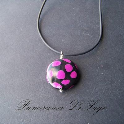 Biżuteria z masy polimerowej kulka kropka nie biedronka Panorama LeSage wisiory kolczyki bransolety rękodzieło mini seria z masy fimo