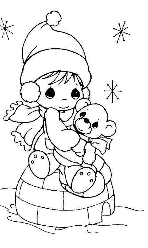 Winter free precious moments coloring pages coloring pages for Precious moments giraffe coloring pages