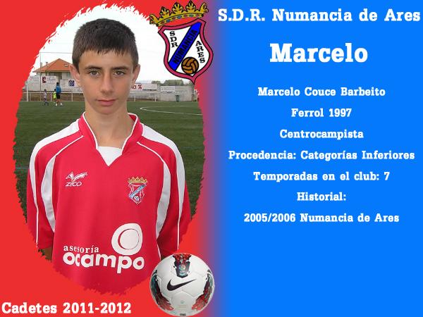 ADR Numancia de Ares. Cadetes 2011-2012. MARCELO.