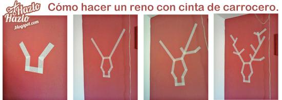 Cómo decorar paredes dibujando animales con cinta.