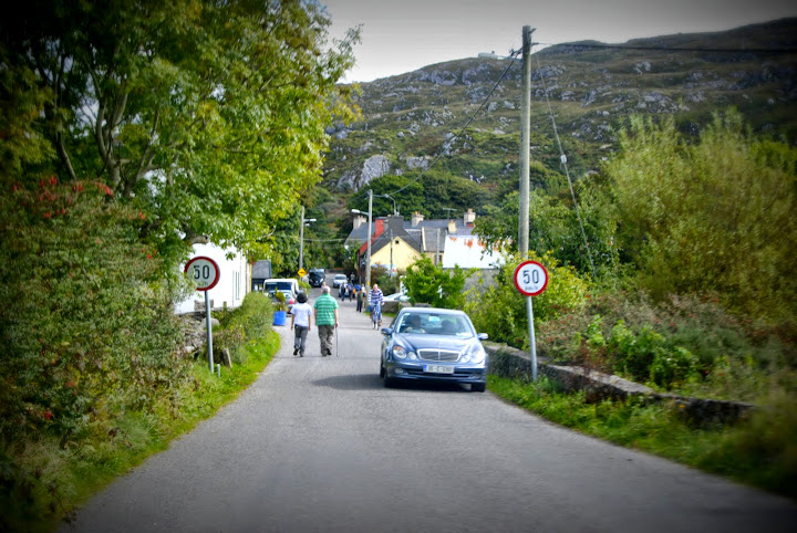 Watch for walkers and hikers while driving in Ireland