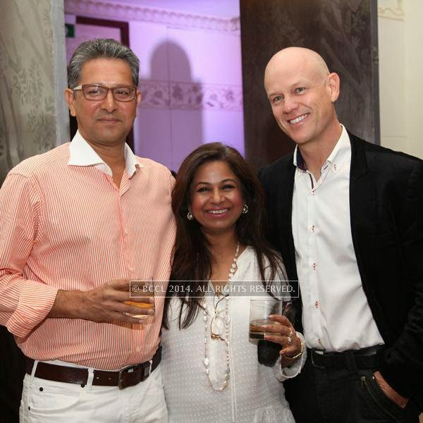 Virram,Manjusha and Rolf at the RNGM golf event that was held at the Mysore Hall at the ITC Gardenia, Bangalore.