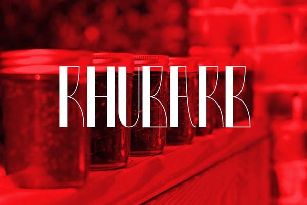 Rhubarb Free Fonts