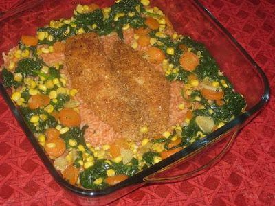 preparing fish casserole