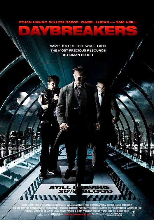 Poster Of Daybreakers (2009) Full Movie Hindi Dubbed Free Download Watch Online At Alldownloads4u.Com