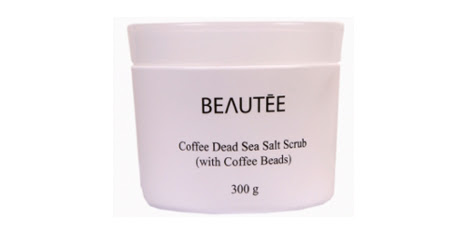 Beautee Coffee Dead Sea Salt Scrub (with Coffee Beads)
