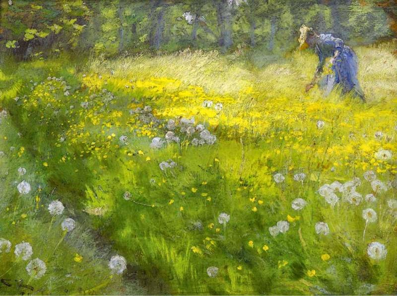 Peder Severin Krøyer - Marie Kroyer in the Garden at Skagen