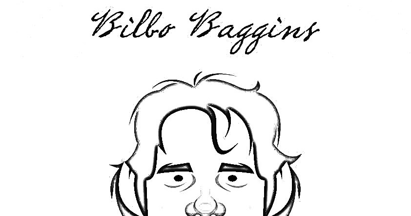 The Hobbit Bilbo Baggins Coloring Pages