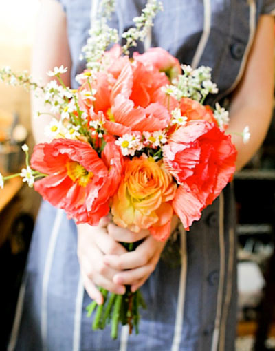 Poppy Bouquet Is Easy Breezy Can T Help But Smile Photo Credit Poppies