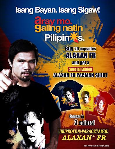Alaxan FR Pacman shirt