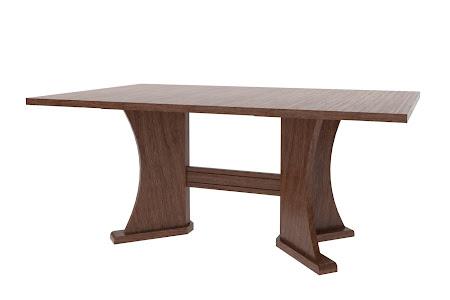 "70"" x 42"" Victoria Table in Mahogany Oak"