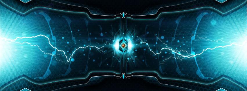 Lightning cell facebook cover