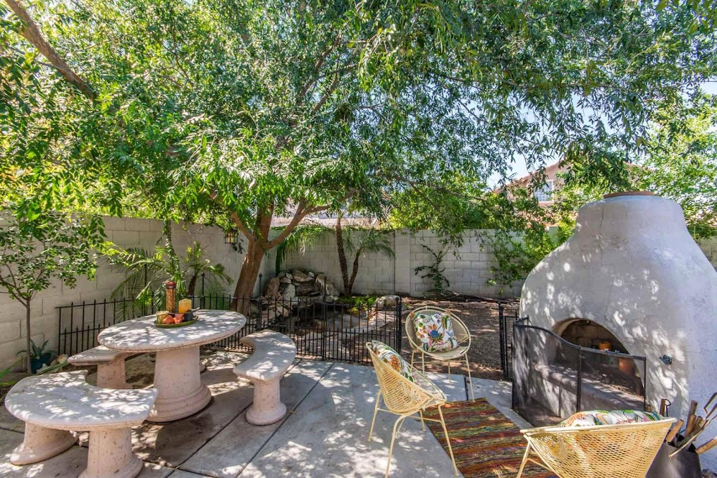 homes for sale in Gilbert AZ showcases this backyard oasis