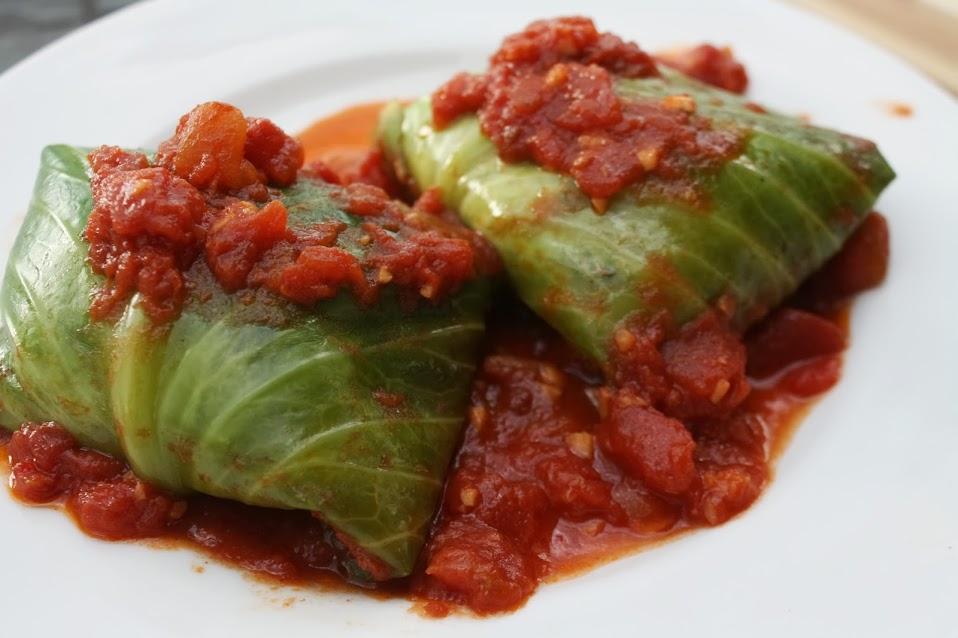 Greek-Style Quinoa Stuffed Cabbage Rolls - Run DMT