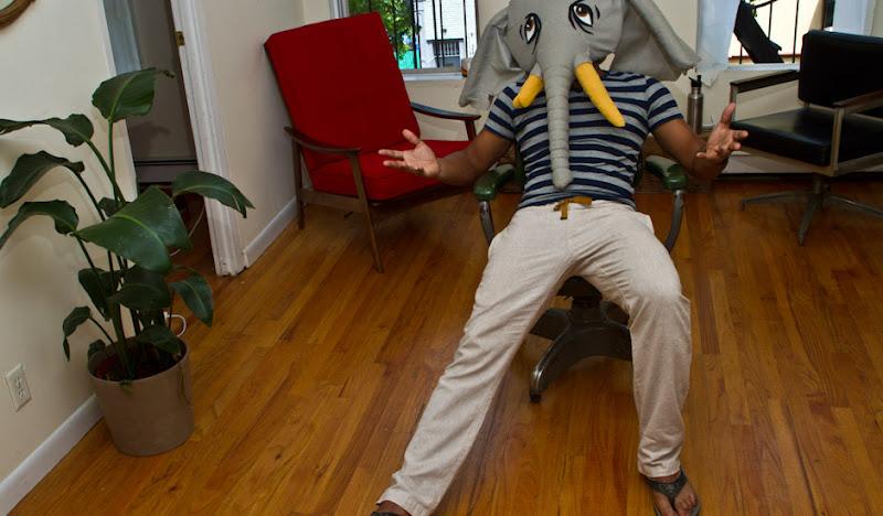 Khaki Linen KCs Elephant Head