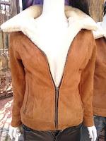 áo da lộn lót lông cừu nữ
