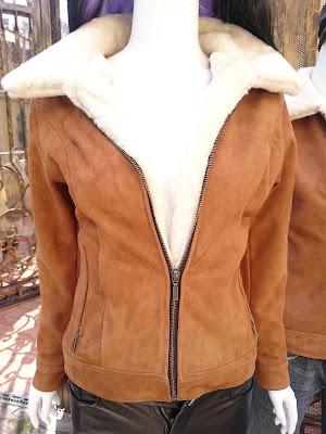 áo da lộn nữ lót lông cừu