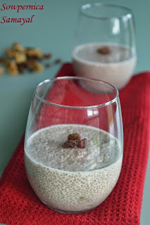 Raisin-Walnut Chia Seeds Pudding