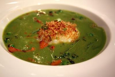 Soup at Ze Kitchen Galerie restaurant in Paris