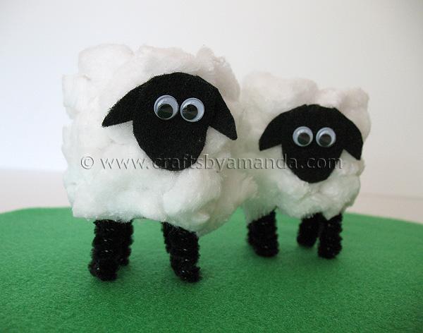 cardboard sheep template - cardboard tube lamb tutorial video crafts by amanda