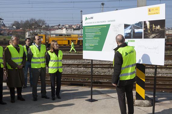 Reducción del tiempo de viaje en tren entre Santander y Madrid desde abril