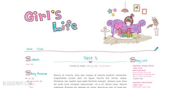 25+ Best Free Cute Blogger Templates - Blogger DIY