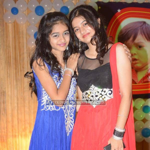 Palak and Falguni Patel during Devaj Patel's birthday party, held in Nagpur.