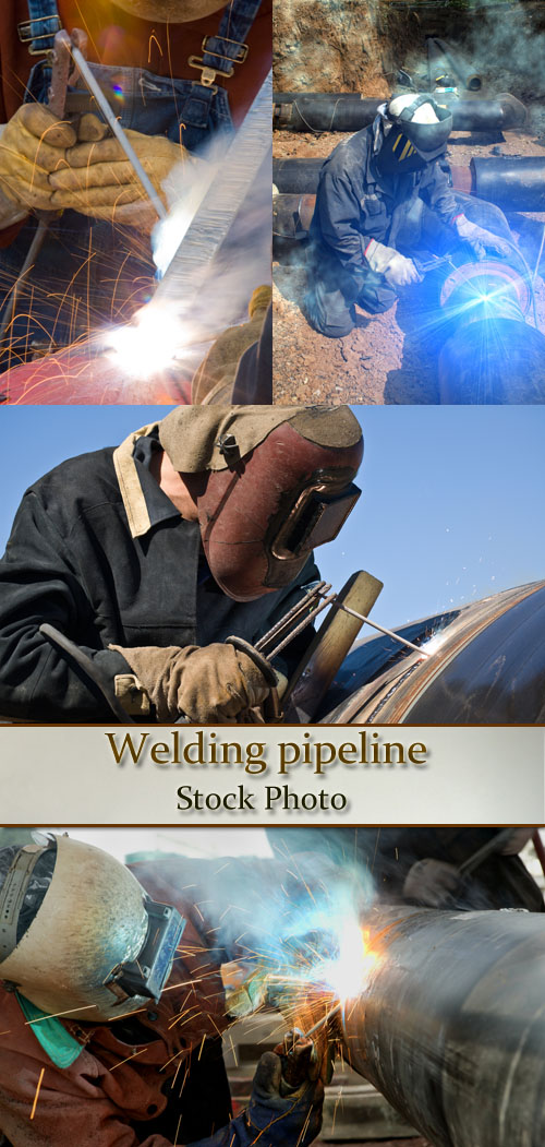 Stock Photo: Welding pipeline