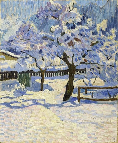 Giovanni Giacometti - The garden in winter. 1909