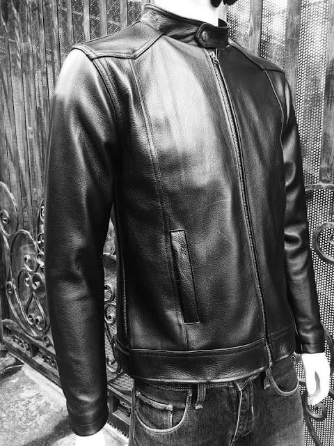 áo da nam bò cao cấp đen thời trang